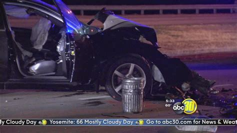 Head-on Car Collision On Highway 180 In Fresno