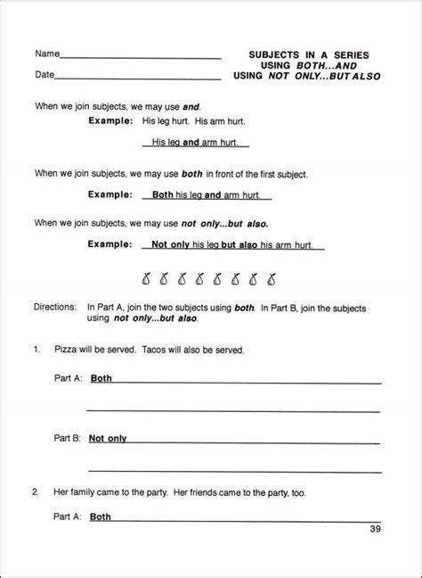 sentence structure activities 4th grade 3rd grade 4th