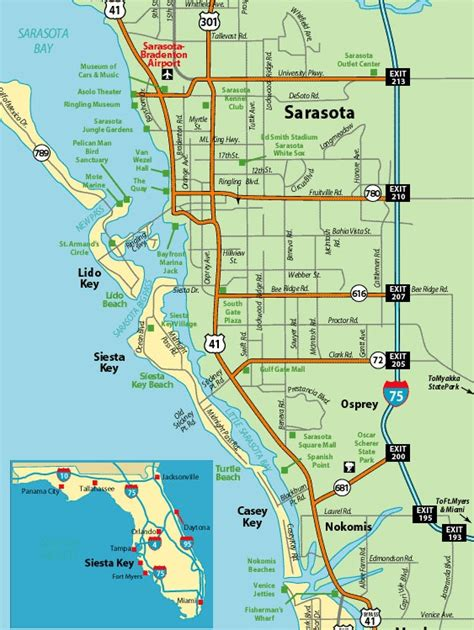Siesta Key Florida Map