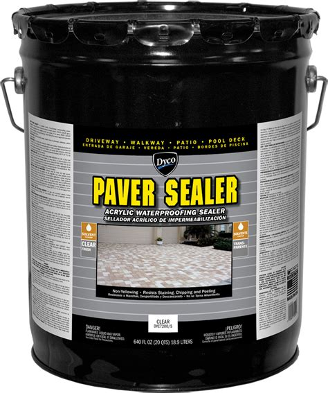 dyco paver sealer solvent based acrylic waterproofing