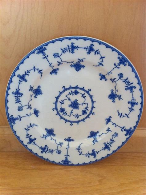 antique blue delft plate maruta japan