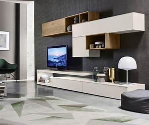 Wohnwand Wrfel Moderne Wohnwand Mit Glasvitrine In