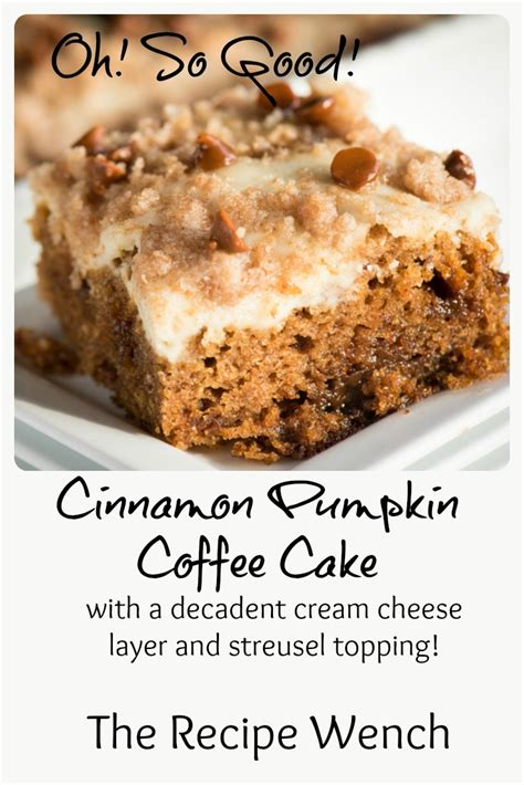 Cinnamon Pumpkin Coffee Cake   The Recipe Wench