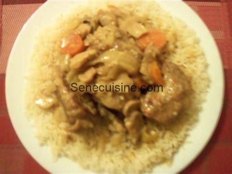 cuisine avec du riz recette de blanquette de veau senecuisine