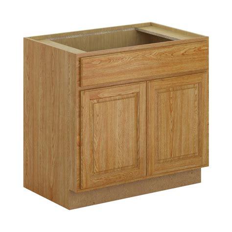 medium oak kitchen cabinets hton bay assembled 36x34 5x24 in sink base 7422