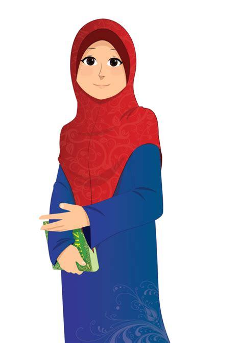 Muslim hijab dawah woman, kartun muslimah, fictional character, cartoon png. √ 2019 Gambar Kartun Muslimah Terbaru Kualitas HD
