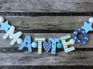Buchstaben Deko Kinderzimmer : matteo namenskette shabby chic holz buchstaben holzbuchstaben taufe deko name kinderzimmer ~ Orissabook.com Haus und Dekorationen