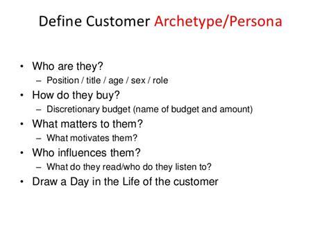 Define Customer by Define Customer Archetype Persona Who Are