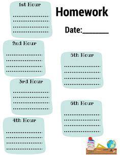 homework planner printable images fractions learning