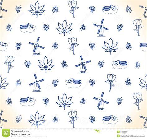 dutch pattern stock vector image  wallpaper delft