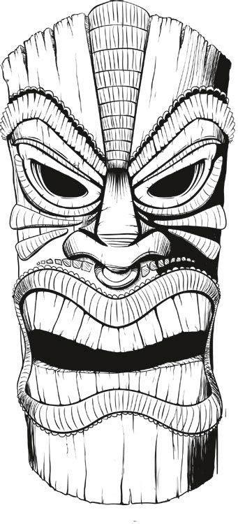 Tiki Drawings Illustration | This tiki mask is for a