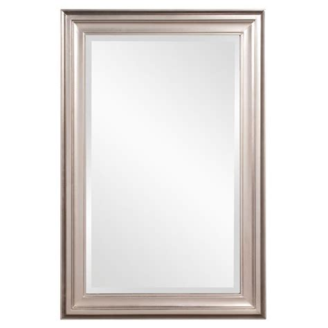 36 in x 24 in x 1 in brushed nickel rectangular vanity framed mirror 53048 the home depot