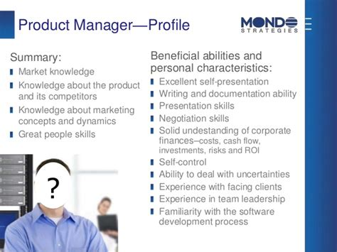 Manager Profile by Product Management Optimizing The What To Develop