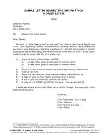asking for business letter sle the best letter sle