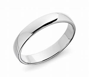 Classic wedding ring in 14k white gold 4mm blue nile for 14k white gold wedding rings