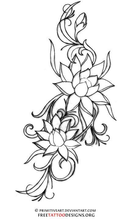 lotus flower tattoo. A lotus to represent a new beginning