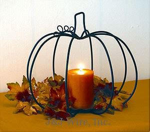 pumpkin candle holder j j wire 187 pumpkin with pan candle holder