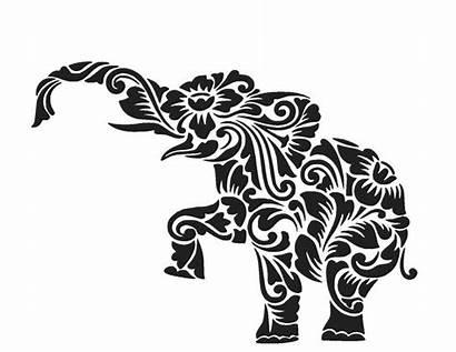 Elephant Silhouette Svg Cut Alabama Flowers Mandala