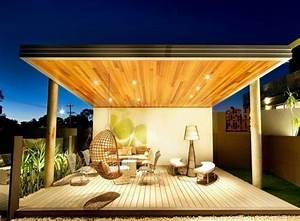 schon beleuchtete uberdachte terrasse mit sitzecke traum terrassen terrassengestaltung ideen With sitzecke terrasse