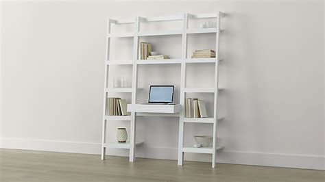 crate and barrel leaning desk white sawyer white leaning desk with two 18 quot bookcases crate