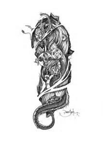 Biomechanical Gear Tattoo Drawing Designs