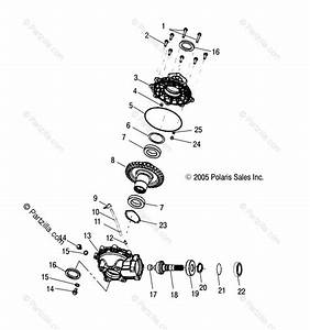 Polaris Atv 2005 Oem Parts Diagram For Housing  Rear   Ab  Ac