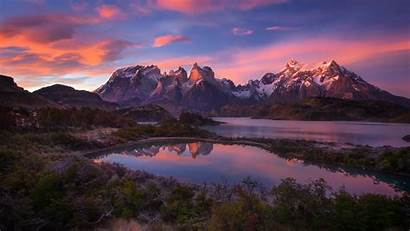 Mountains Lake America South Patagonia Andes Wallpapers