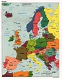 InterOpp.org - Political map of Western Europe, large, 1998