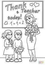 Teacher Coloring Pages Thank Printable Today Drawing Appreciation Super Teachers Happy Supercoloring Card Easter Paper Puzzle Days Cartoon sketch template