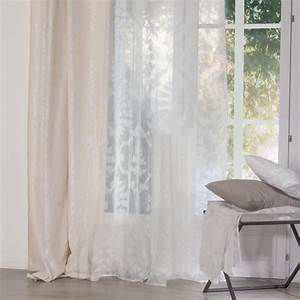 Rideau Voilage Pas Cher : rideau voilage arabesque 140x240cm blanc ~ Teatrodelosmanantiales.com Idées de Décoration
