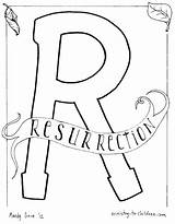 Coloring Resurrection Pages Easter Torch Jesus Alphabet Children Bible Ministry Ascension Sunday Olympic Study Disney Lesson Lazarus Printable Letter Appearances sketch template