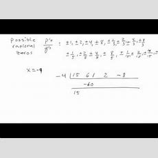 Rational Roots Theorem Youtube