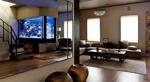 Spiegel Im Wohnzimmer : aquarium ideen 108 designs zum integrieren in der wohnung ~ Michelbontemps.com Haus und Dekorationen