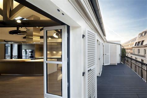 luxury attic apartment  paris   myspaceplanner studio