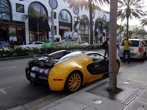 custom yellow black bugatti veyron spotted  beverly