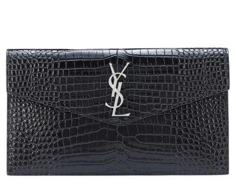 ysl croc leather clutch bag  volte