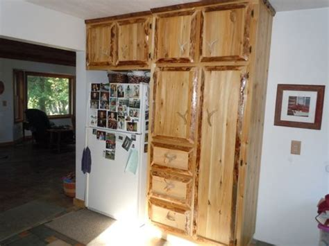 hand crafted custom rustic cedar kitchen cabinets  king