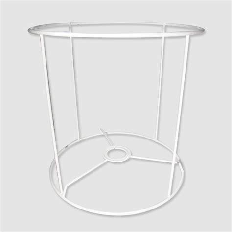 Lampenschirm Gestell 20x20x20 Cm Weiss X1  Perles & Co