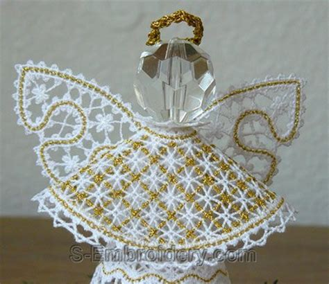 standing lace christmas angel