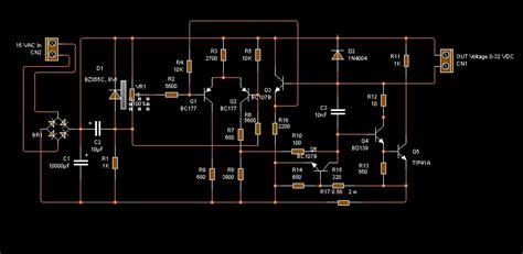 rangkaian adaptor variabel 12 v 3 ere