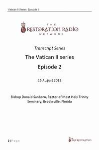transcript the vatican ii series part 2 pdf download With vatican 2 documents pdf
