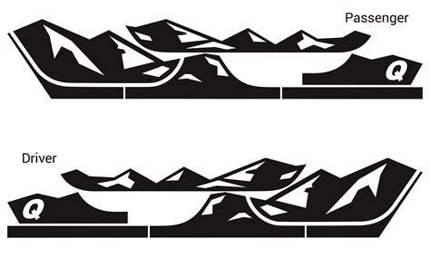 mountain jeep logo quadratec 13135 0700 premium vinyl rocker panel mountain