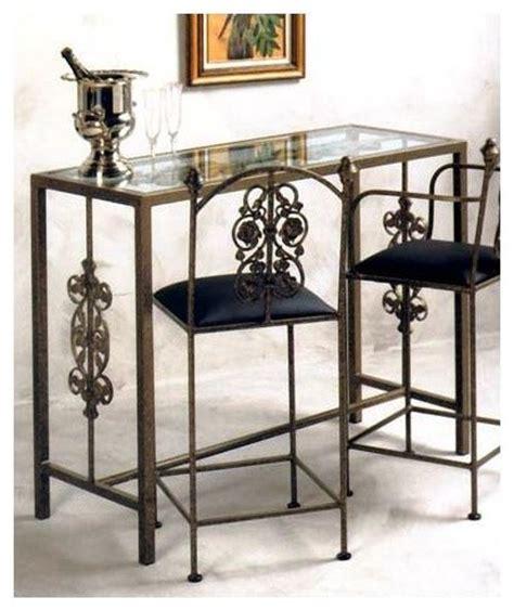 wrought iron pub table glass top wrought iron garden bar aged iron contemporary
