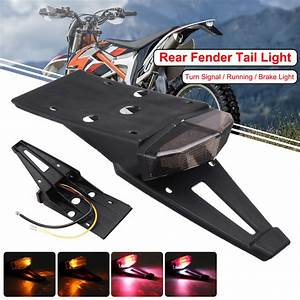 12v License Plate Motorcycle Rear Fender Tail Stop Lights