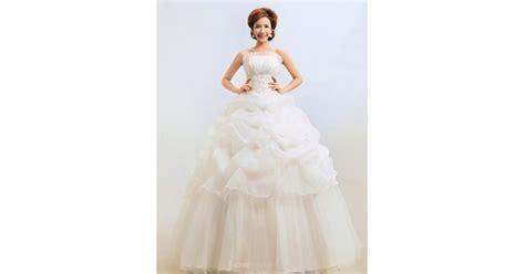Ball Gown Floor-length Wedding Dress -scalloped-edge