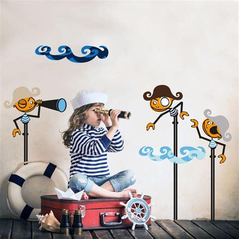d馗oration pirate chambre décoration en stickers muraux 40 idées pour la chambre d enfant
