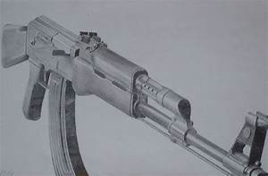AK47 Drawing by JohnFensworth on DeviantArt