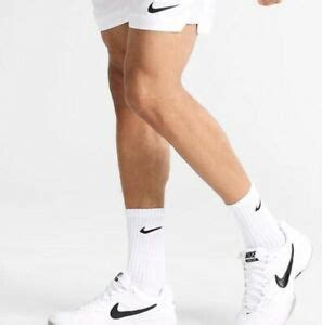 The thick terry sole gives you extra comfort for footdrills and lifts. Nike Performance Cotton Cushioned Crew Mens White Socks 6 Pairs Pack Large 8-12 | eBay
