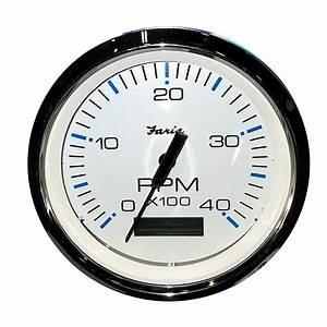 Faria 4 U0026quot  Tachometer W  Hourmeter  4000 Rpm   Diesel  Mech