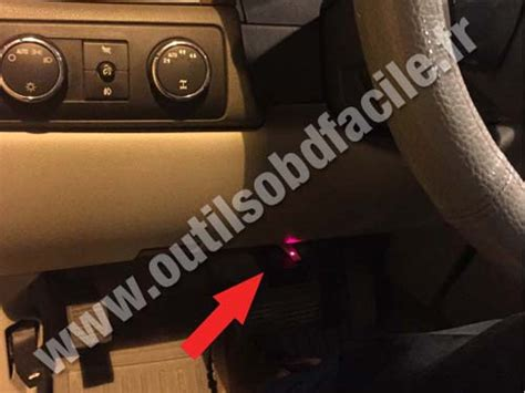 obd connector location  chevrolet avalanche
